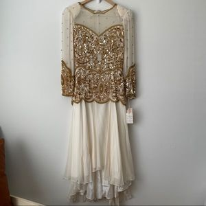 Vintage Alfred Angelo Sequin Silk Dress